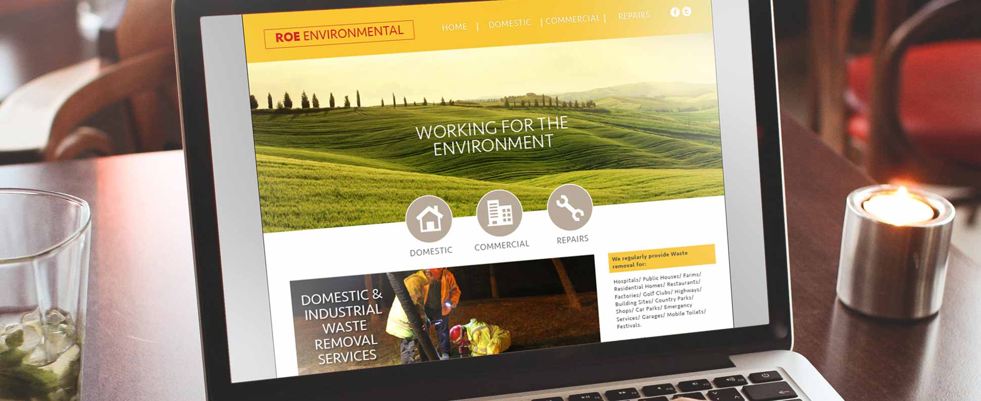ROE Environmental Website Design
